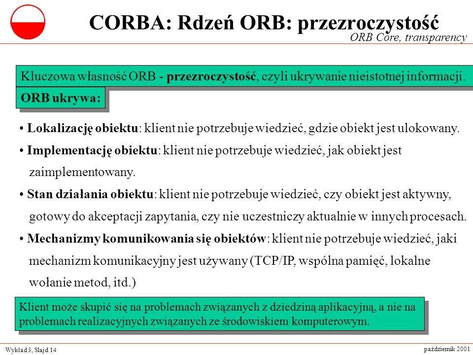 CORBA: Rdzeń ORB: przezroczystość