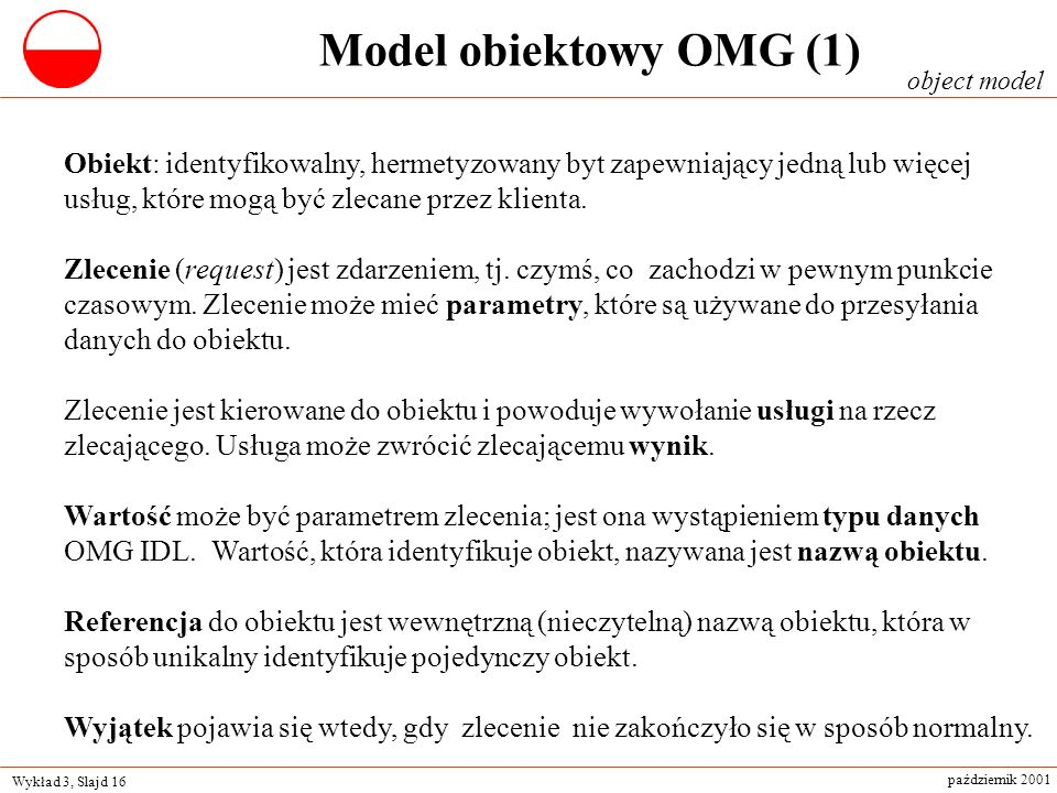 Model obiektowy OMG (1)object model.