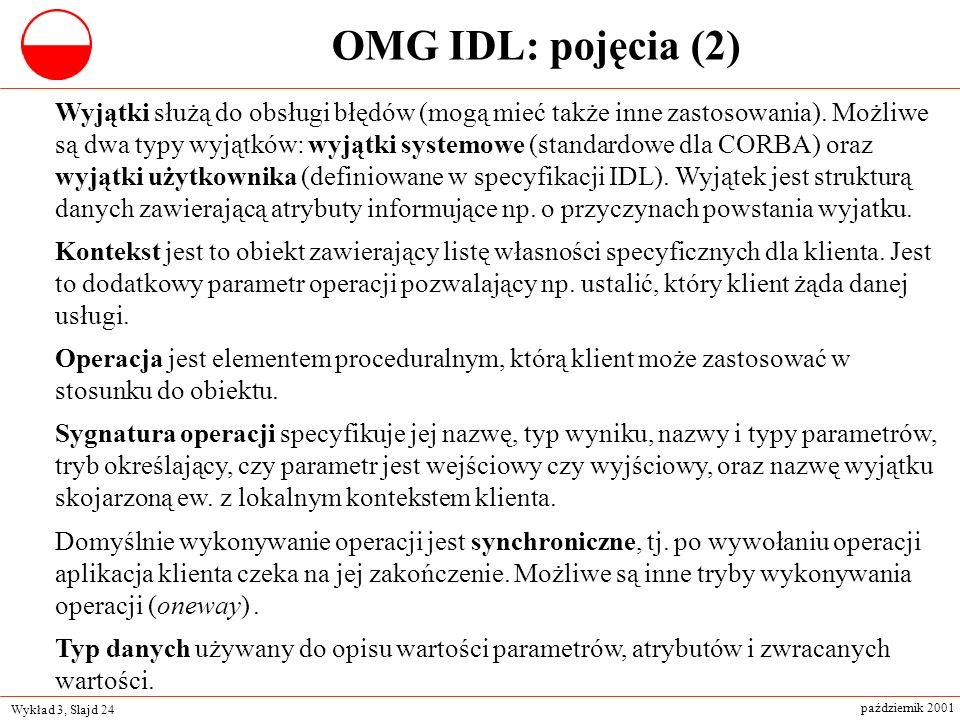 OMG IDL: pojęcia (2)