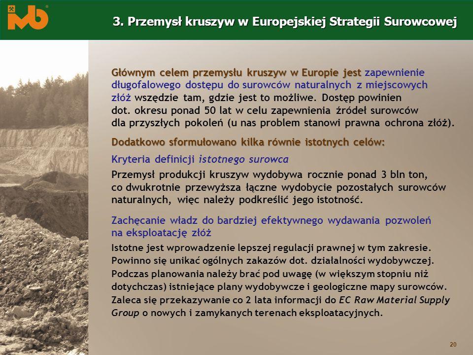 3. Przemysł kruszyw w Europejskiej Strategii Surowcowej