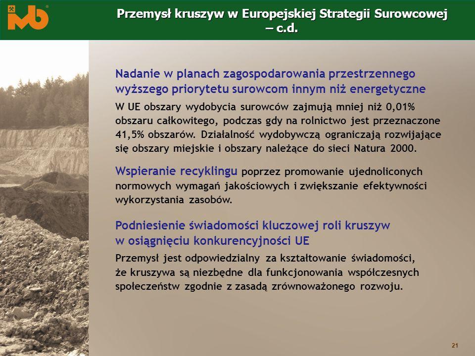 Przemysł kruszyw w Europejskiej Strategii Surowcowej – c.d.