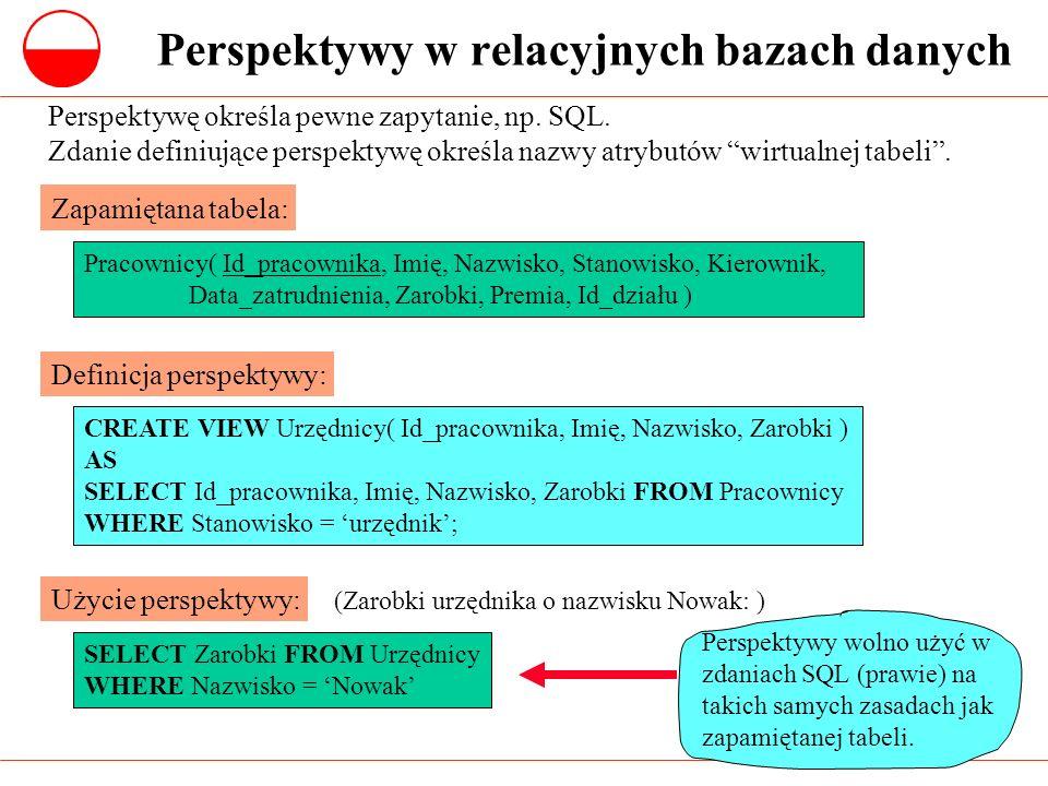 Perspektywy w relacyjnych bazach danych