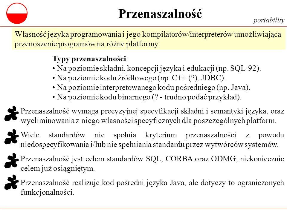 Przenaszalność portability. Własność języka programowania i jego kompilatorów/interpreterów umożliwiająca przenoszenie programów na różne platformy.