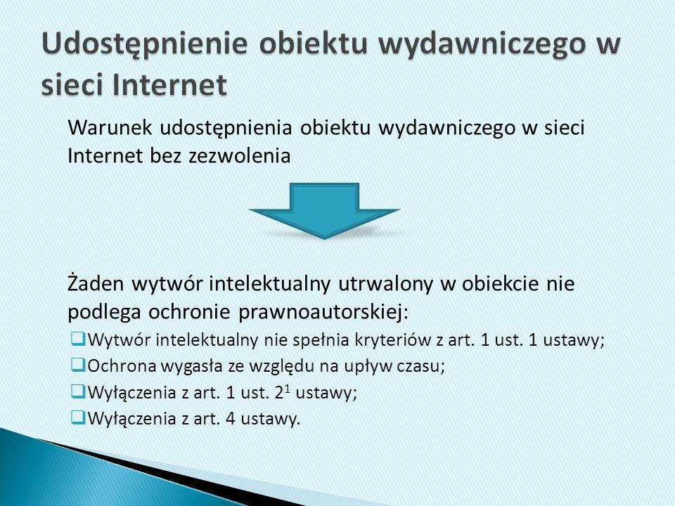 Udostępnienie obiektu wydawniczego w sieci Internet