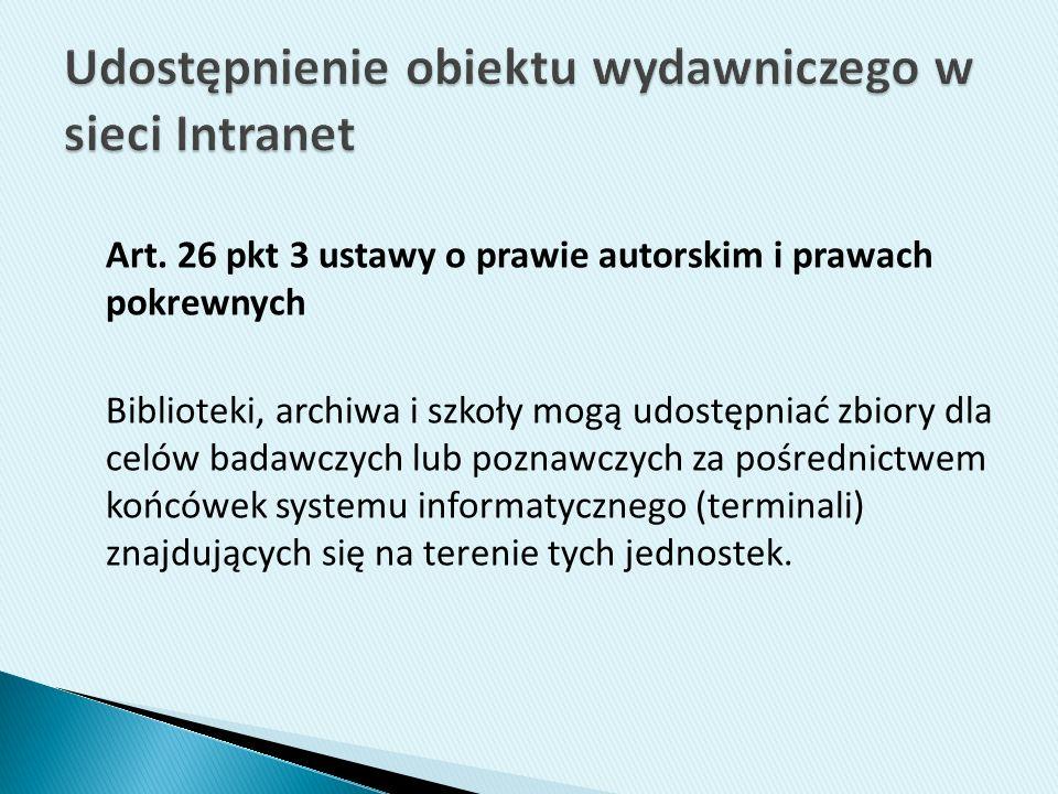 Udostępnienie obiektu wydawniczego w sieci Intranet