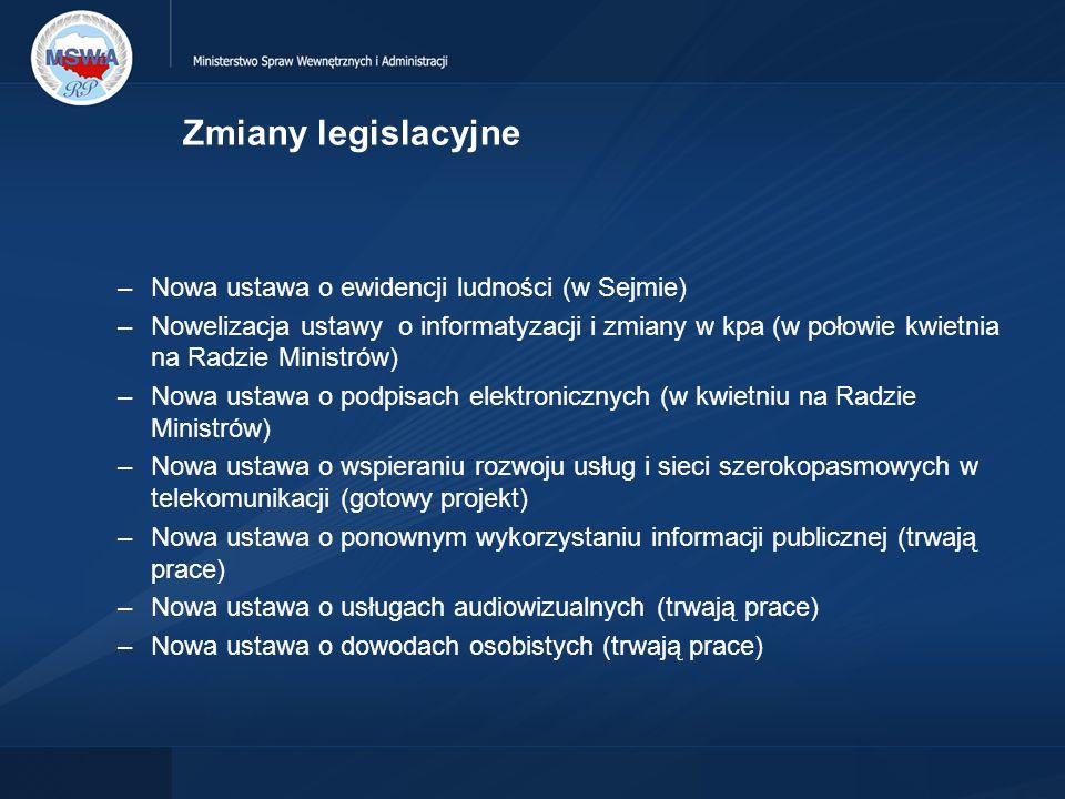 Zmiany legislacyjne Nowa ustawa o ewidencji ludności (w Sejmie)