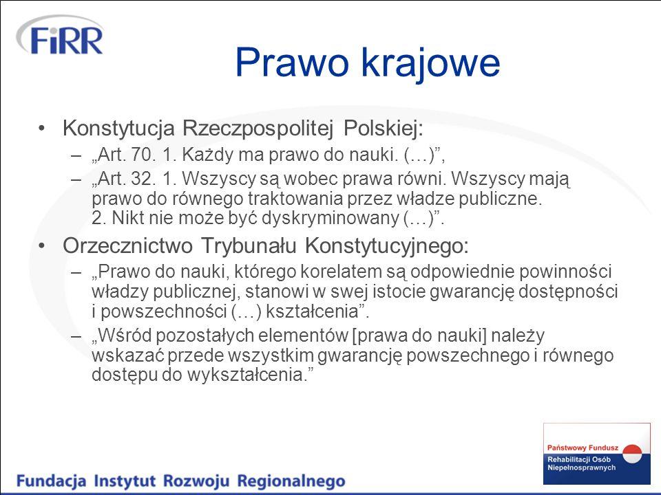 Prawo krajowe Konstytucja Rzeczpospolitej Polskiej: