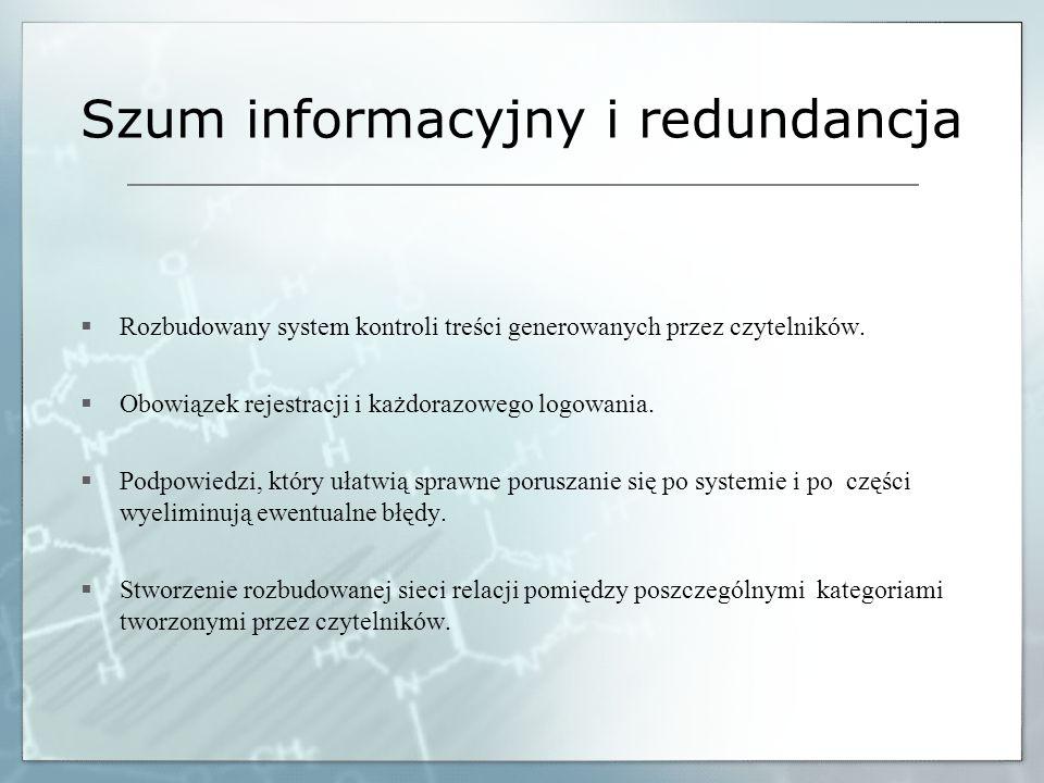 Szum informacyjny i redundancja