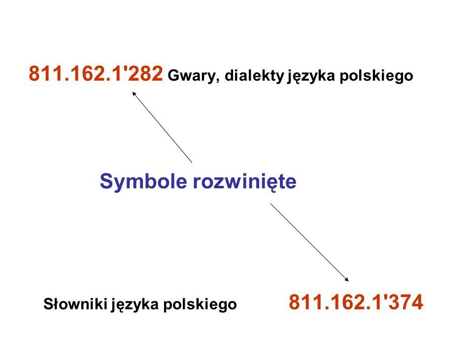 811.162.1 282 Gwary, dialekty języka polskiego