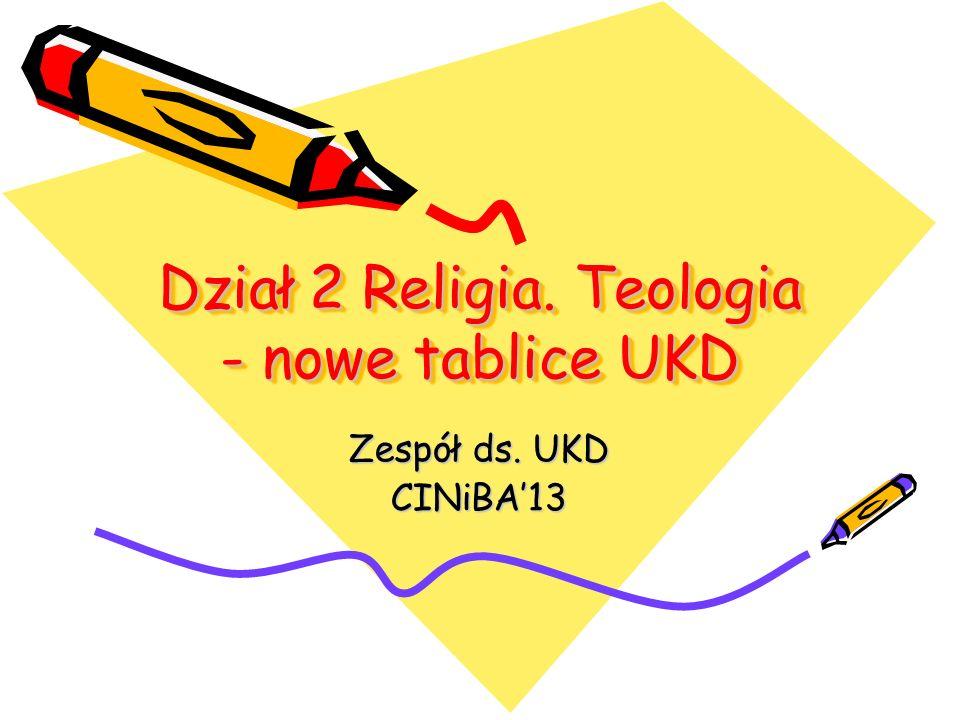 Dział 2 Religia. Teologia - nowe tablice UKD