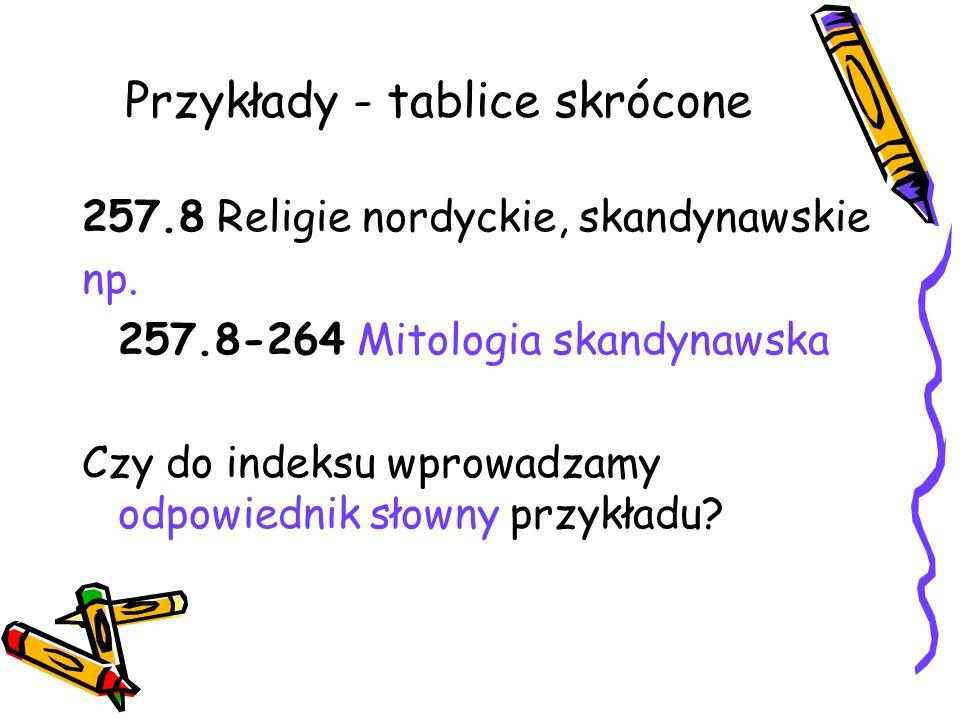 Przykłady - tablice skrócone