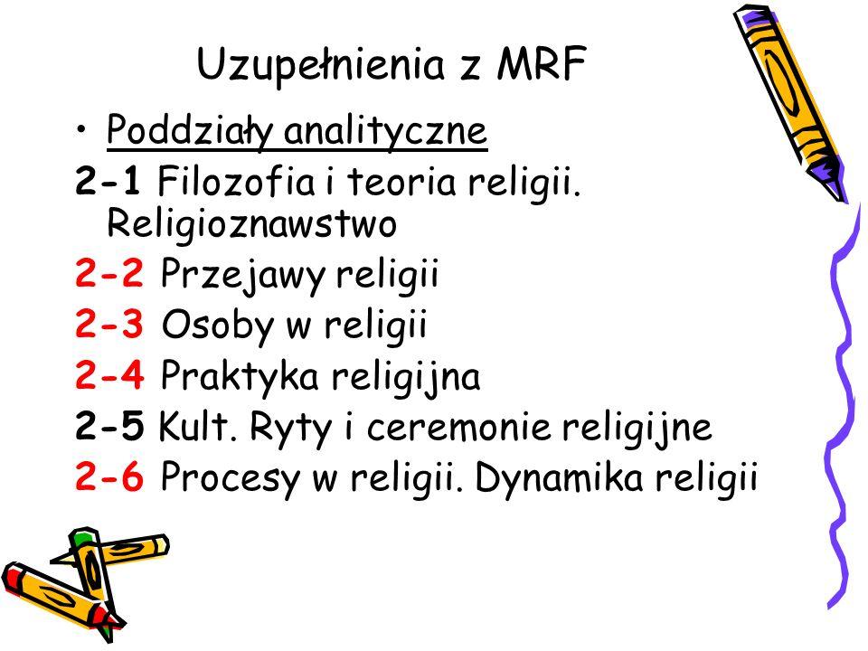 Uzupełnienia z MRF Poddziały analityczne