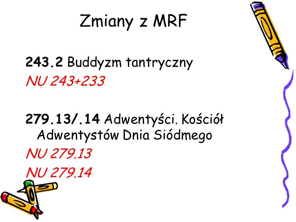 Zmiany z MRF 243.2 Buddyzm tantryczny NU 243+233