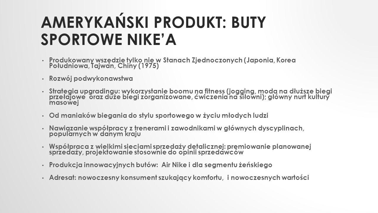 Amerykański produkt: buty sportowe Nike'a