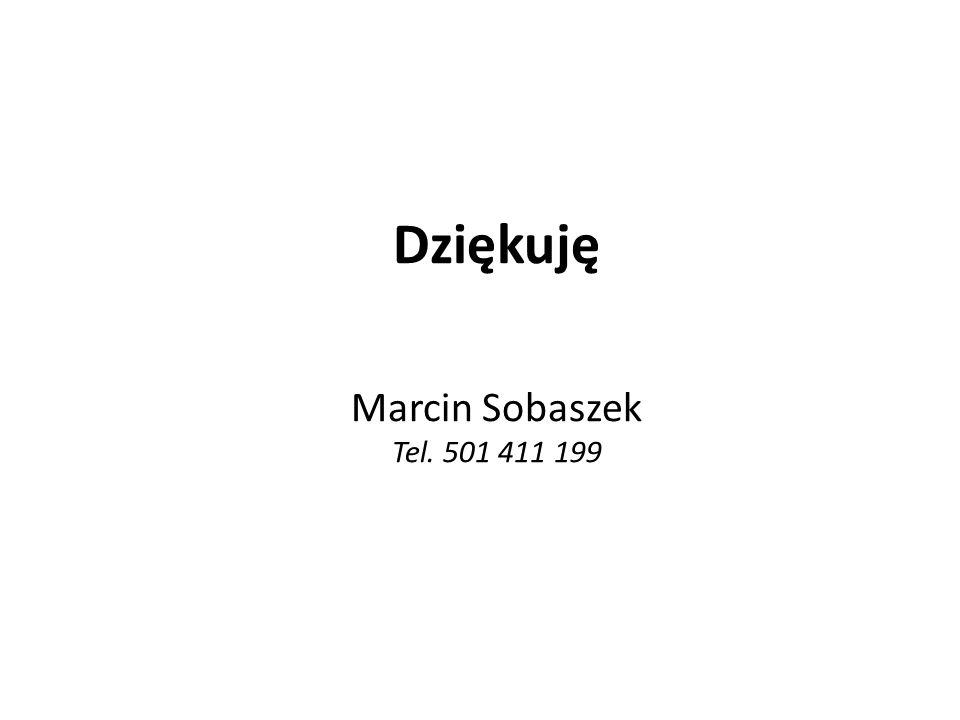Dziękuję Marcin Sobaszek Tel. 501 411 199