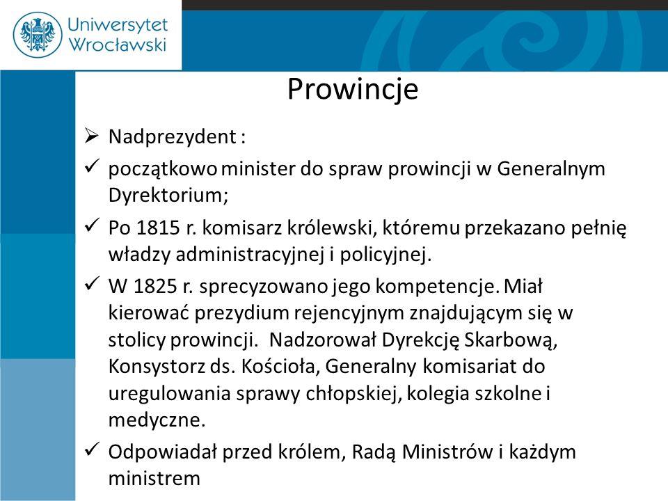 Prowincje Nadprezydent :