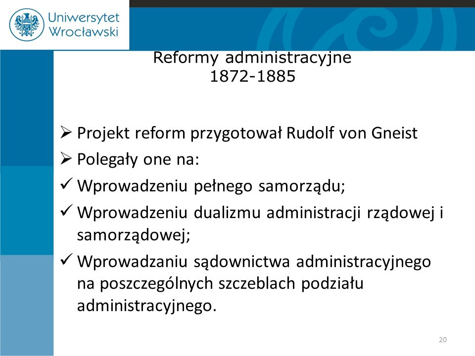 Reformy administracyjne 1872-1885