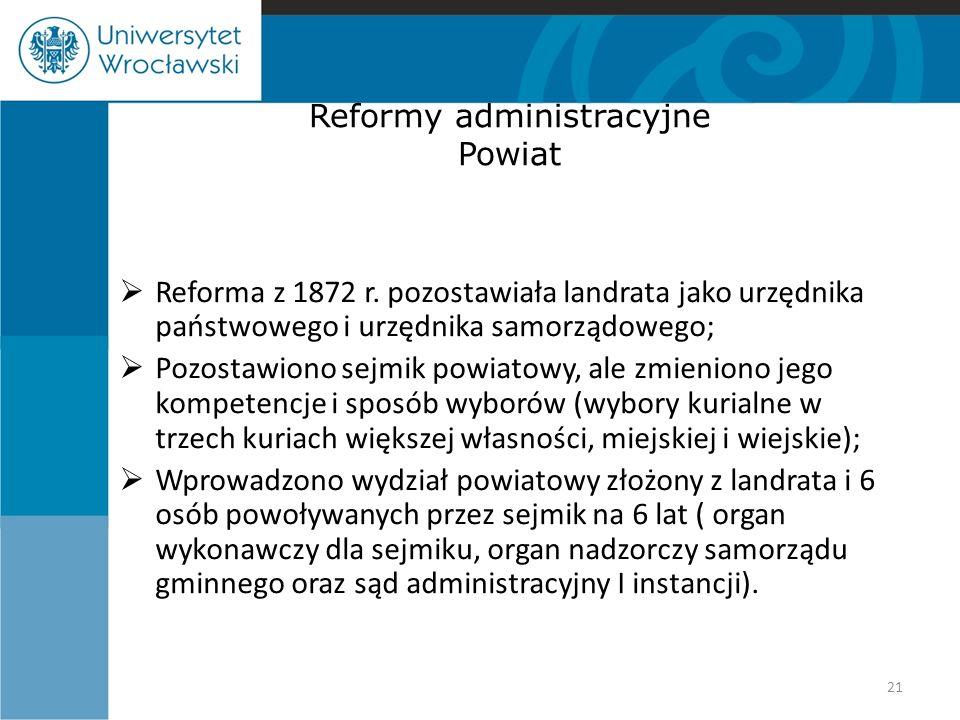 Reformy administracyjne Powiat