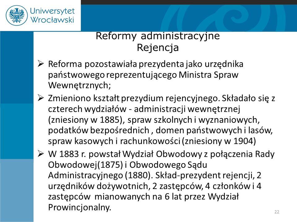 Reformy administracyjne Rejencja