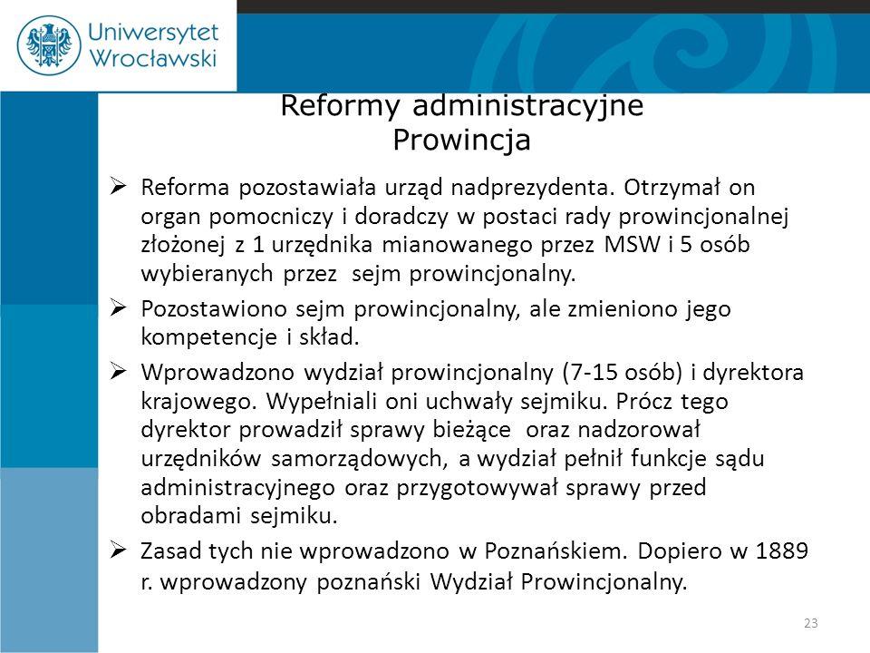 Reformy administracyjne Prowincja