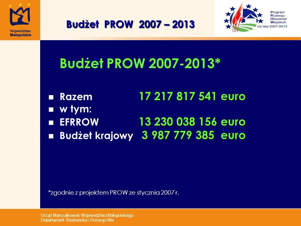 Razem 17 217 817 541 euro w tym: EFRROW 13 230 038 156 euro
