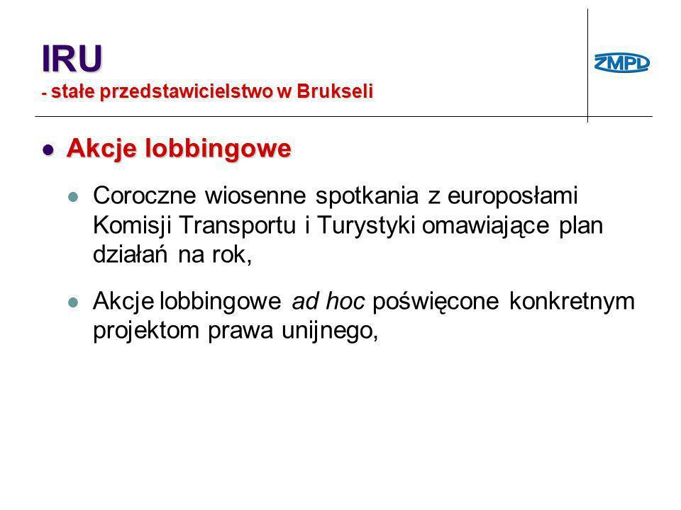 IRU - stałe przedstawicielstwo w Brukseli
