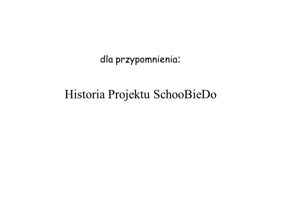 dla przypomnienia: Historia Projektu SchooBieDo