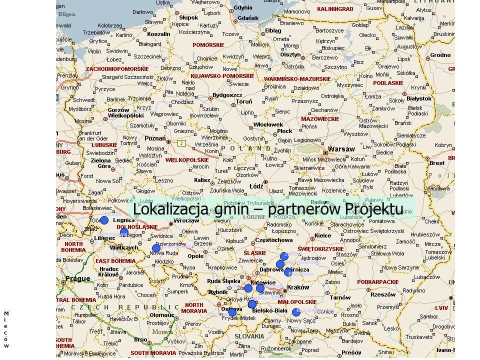 Lokalizacja gmin – partnerów Projektu