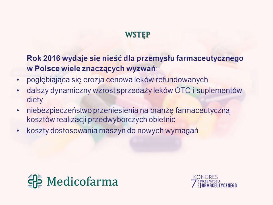 Rok 2016 wydaje się nieść dla przemysłu farmaceutycznego w Polsce wiele znaczących wyzwań: