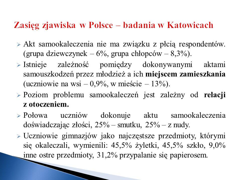 Zasięg zjawiska w Polsce – badania w Katowicach