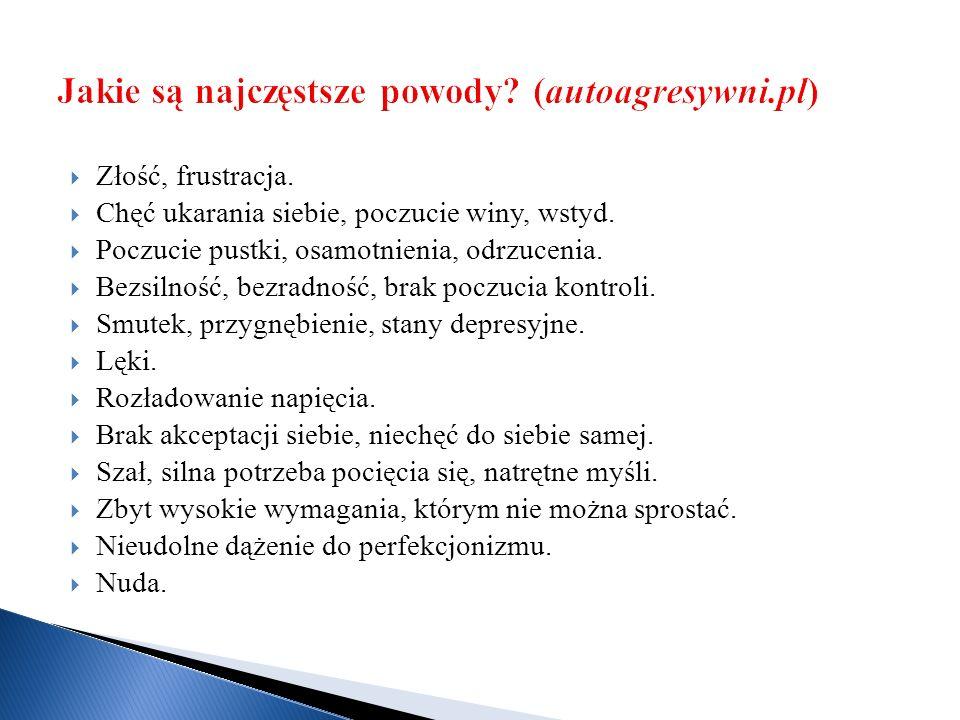 Jakie są najczęstsze powody (autoagresywni.pl)