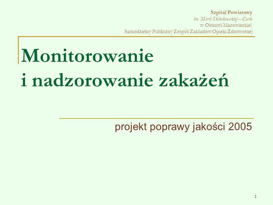 projekt poprawy jakości 2005