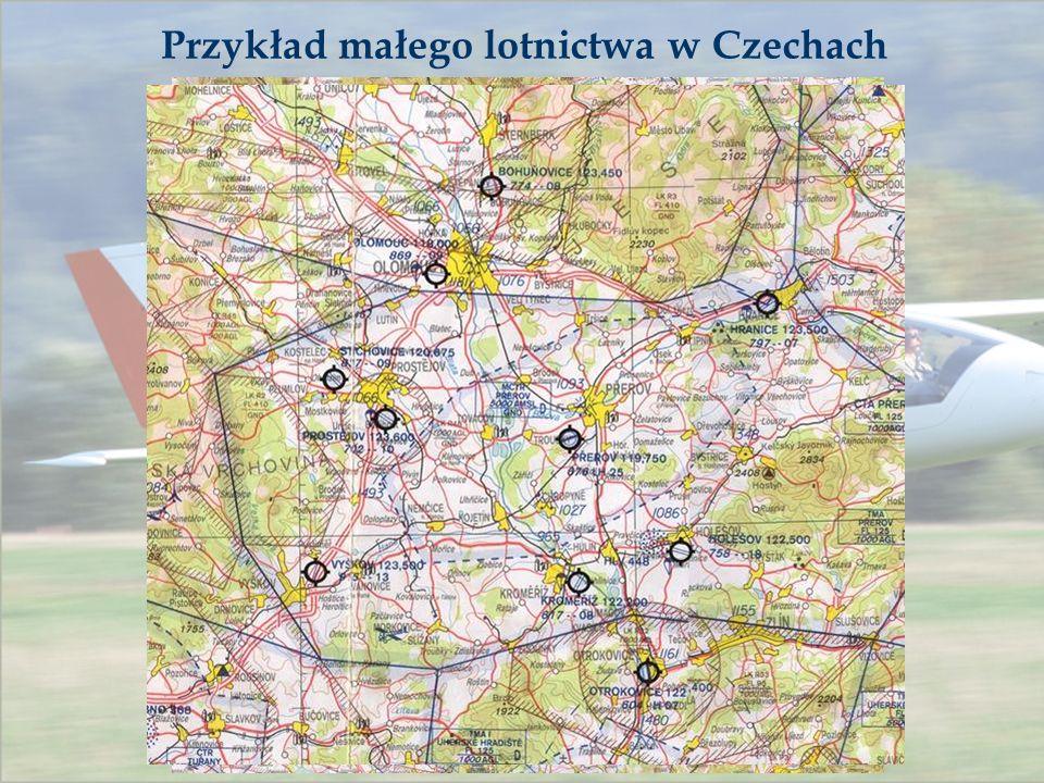Przykład małego lotnictwa w Czechach