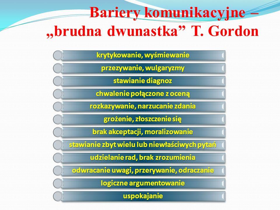"Bariery komunikacyjne – ""brudna dwunastka T. Gordon"