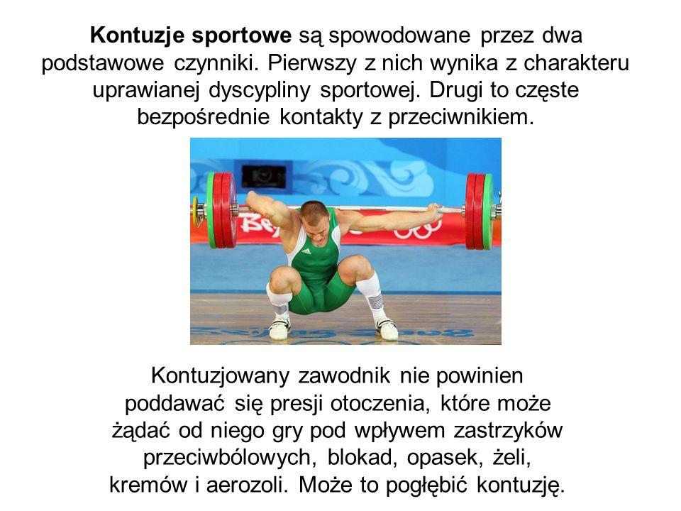 Kontuzje sportowe są spowodowane przez dwa podstawowe czynniki