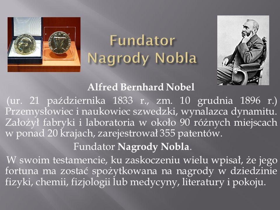 Fundator Nagrody Nobla