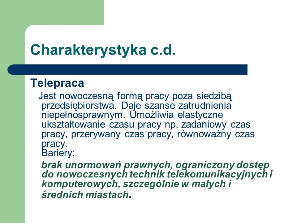 Charakterystyka c.d. Telepraca