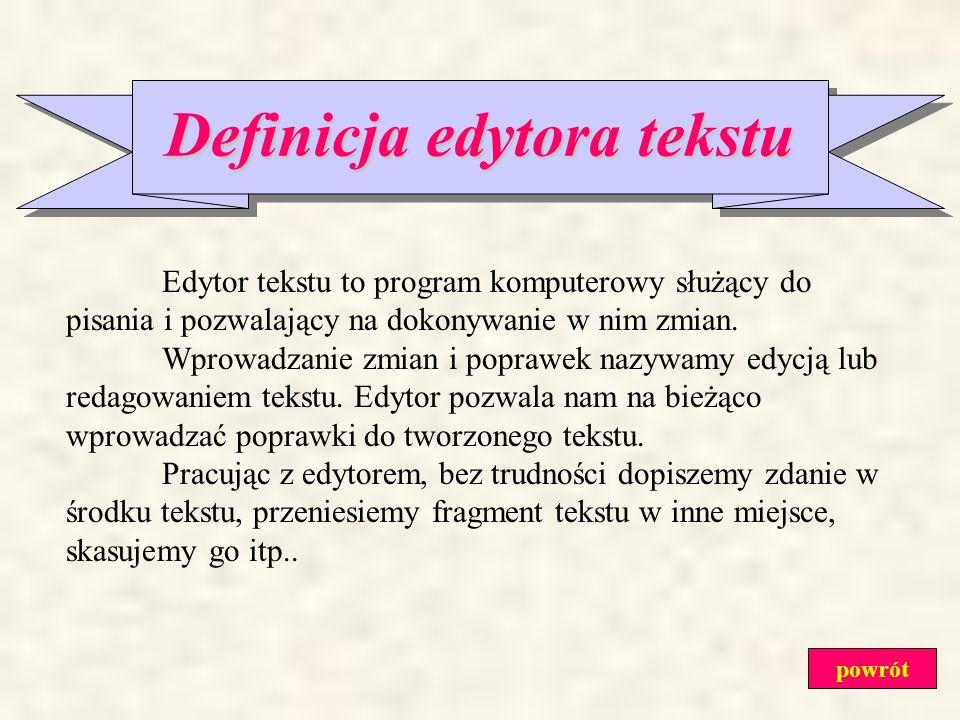 Definicja edytora tekstu