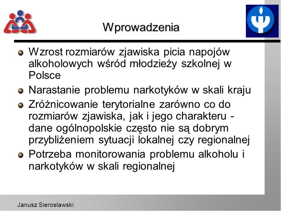 Wprowadzenia Wzrost rozmiarów zjawiska picia napojów alkoholowych wśród młodzieży szkolnej w Polsce.