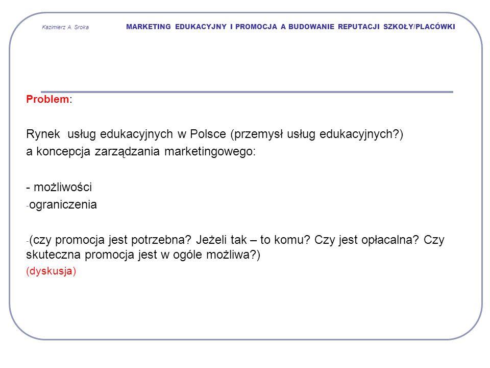 Rynek usług edukacyjnych w Polsce (przemysł usług edukacyjnych )