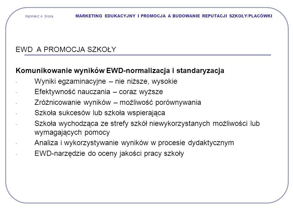 Komunikowanie wyników EWD-normalizacja i standaryzacja