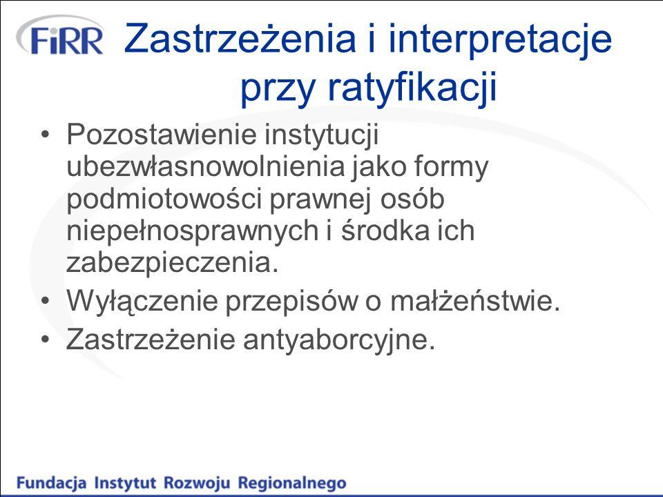 Zastrzeżenia i interpretacje przy ratyfikacji