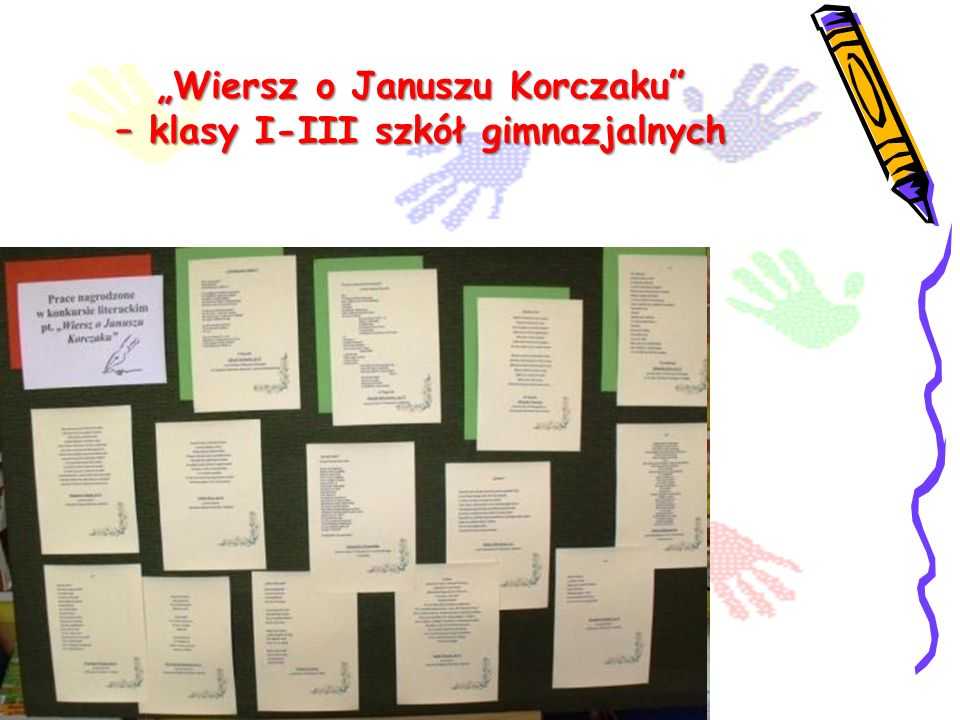 """""""Wiersz o Januszu Korczaku – klasy I-III szkół gimnazjalnych"""