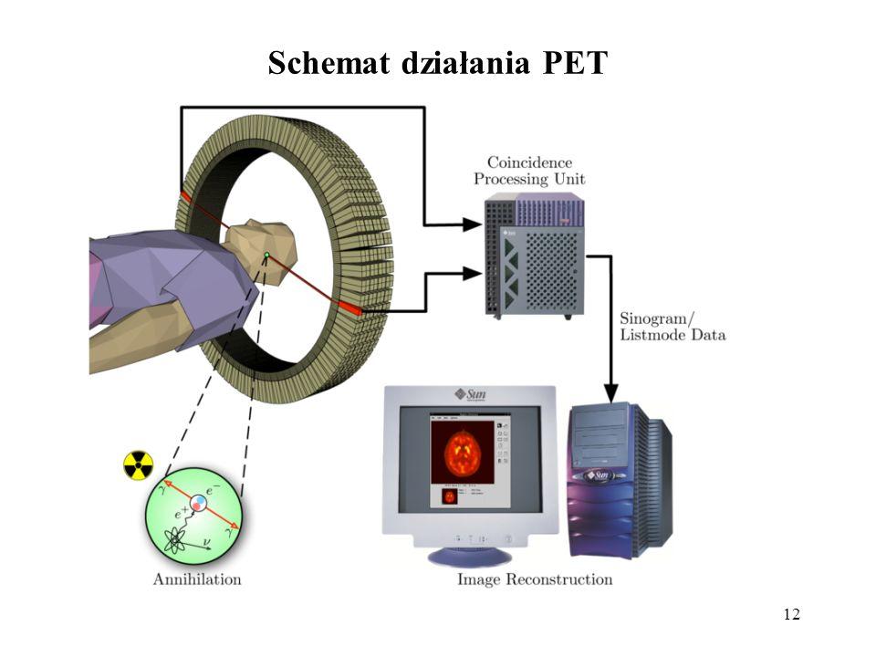 Schemat działania PET