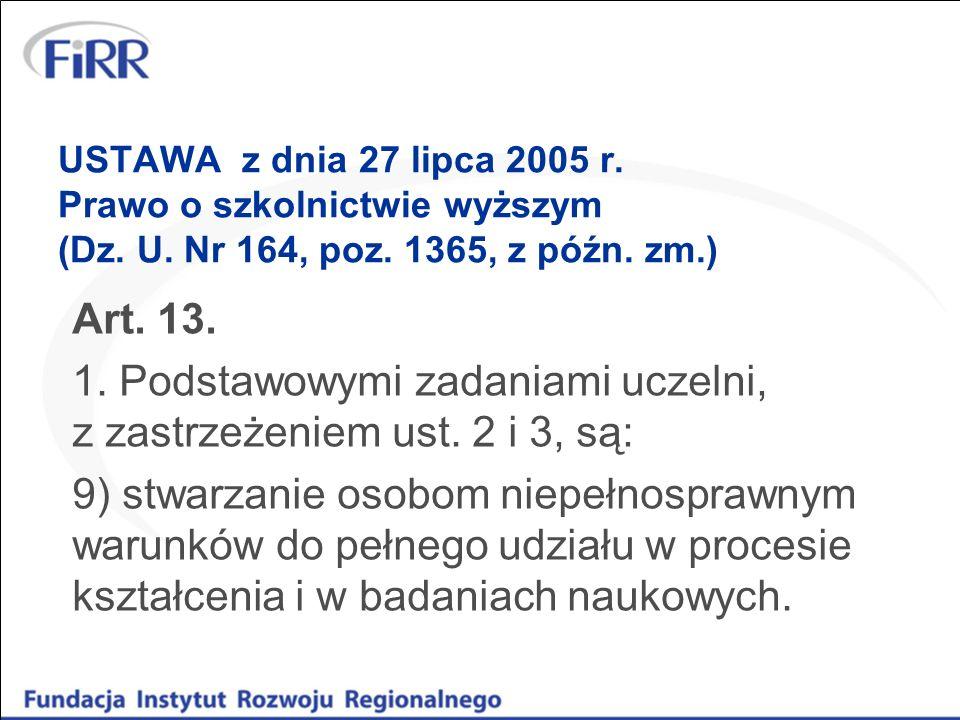 USTAWA z dnia 27 lipca 2005 r. Prawo o szkolnictwie wyższym (Dz. U