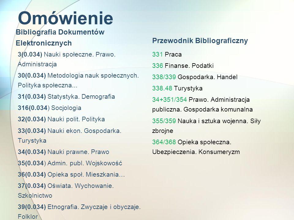 Omówienie Bibliografia Dokumentów Elektronicznych
