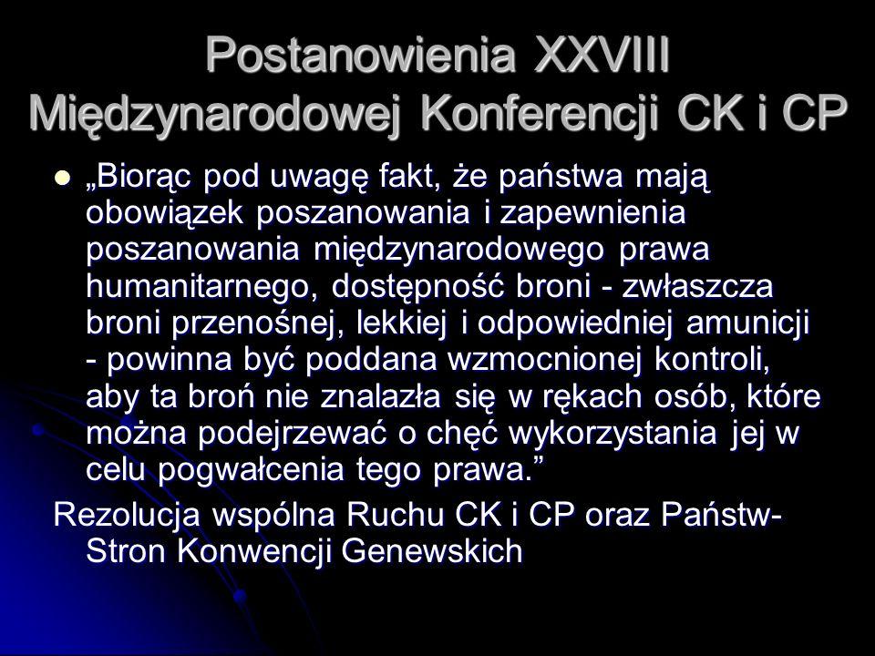 Postanowienia XXVIII Międzynarodowej Konferencji CK i CP