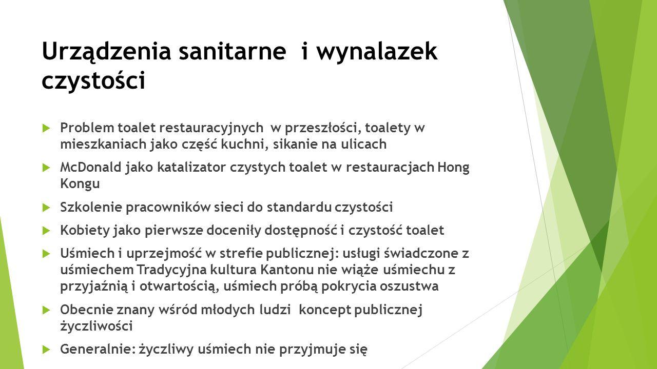 Urządzenia sanitarne i wynalazek czystości