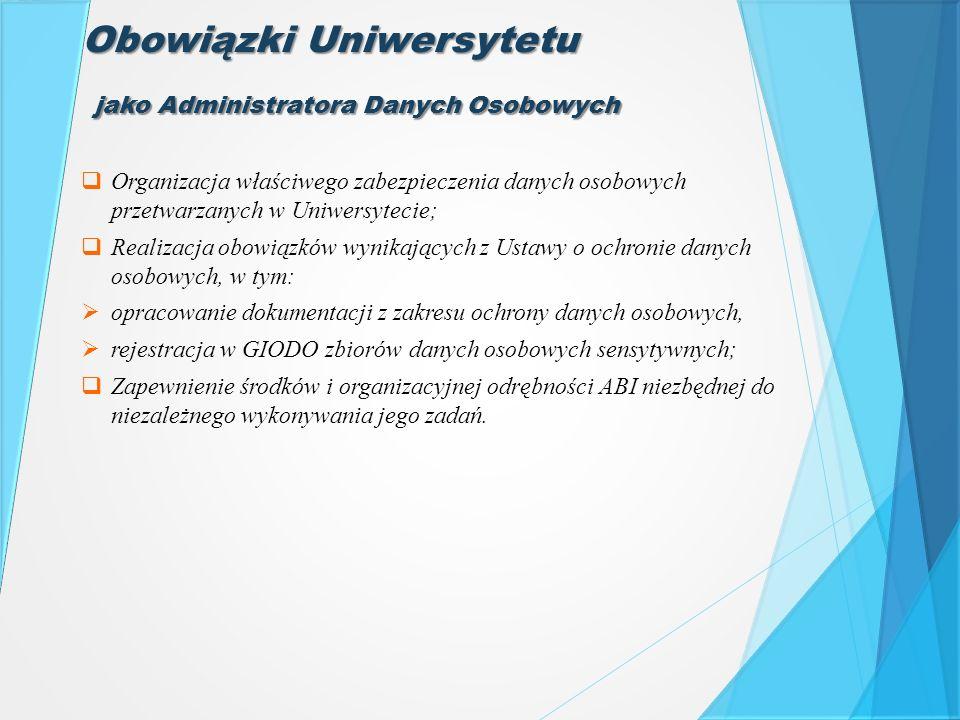Obowiązki Uniwersytetu