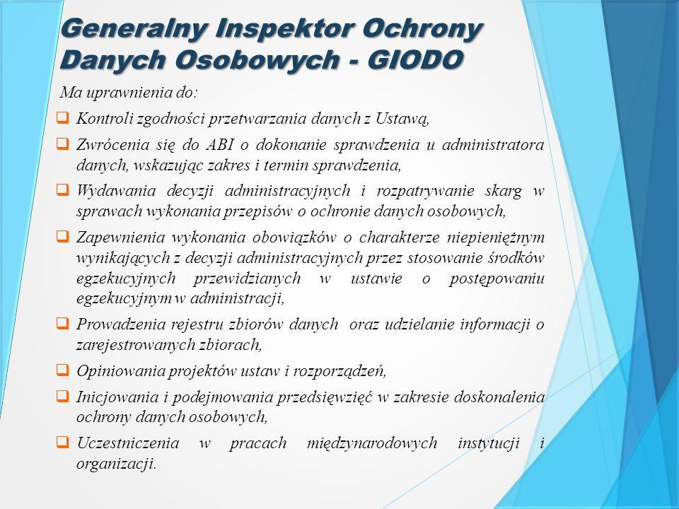 Generalny Inspektor Ochrony Danych Osobowych - GIODO